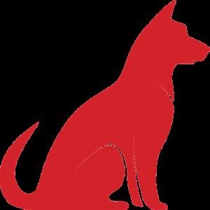 Large Dog Illustration (Red)