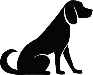 Medium Dog Illustration (Black)
