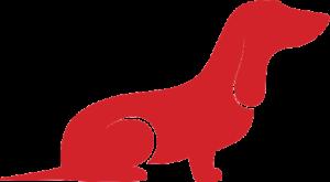 Small Dog Illustration (Red)